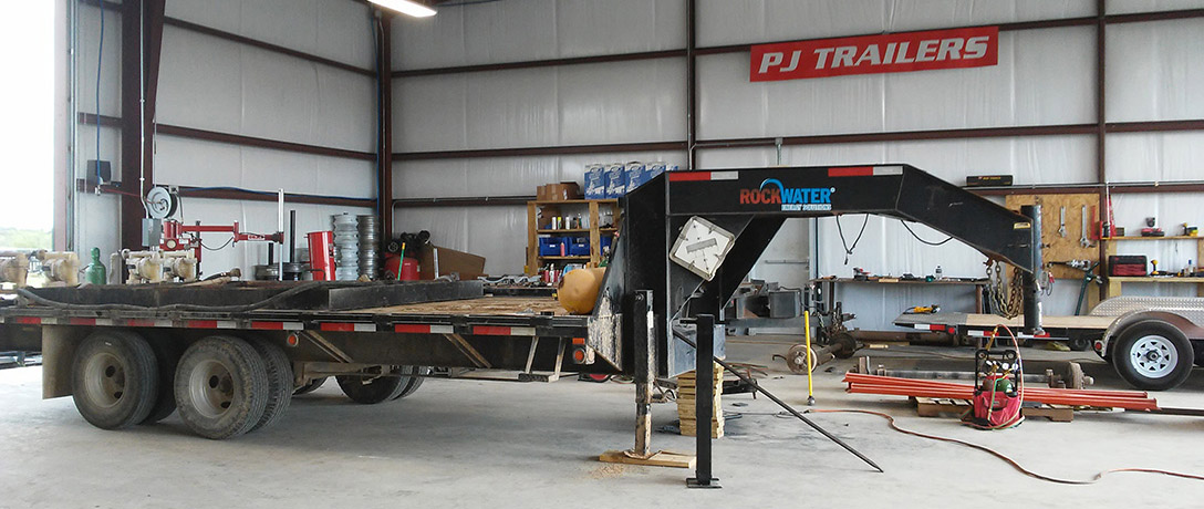 RockWater trailer being serviced
