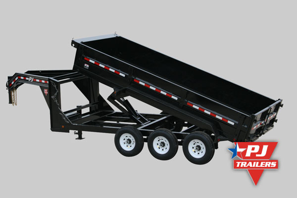 PJ trailer dump trailer with gooseneck