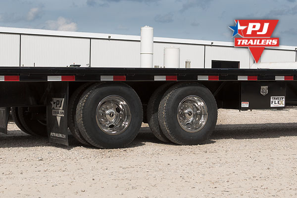 Steel centered tires- PJ Trailers