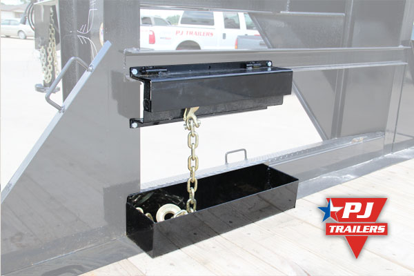 Chain rack for trailers