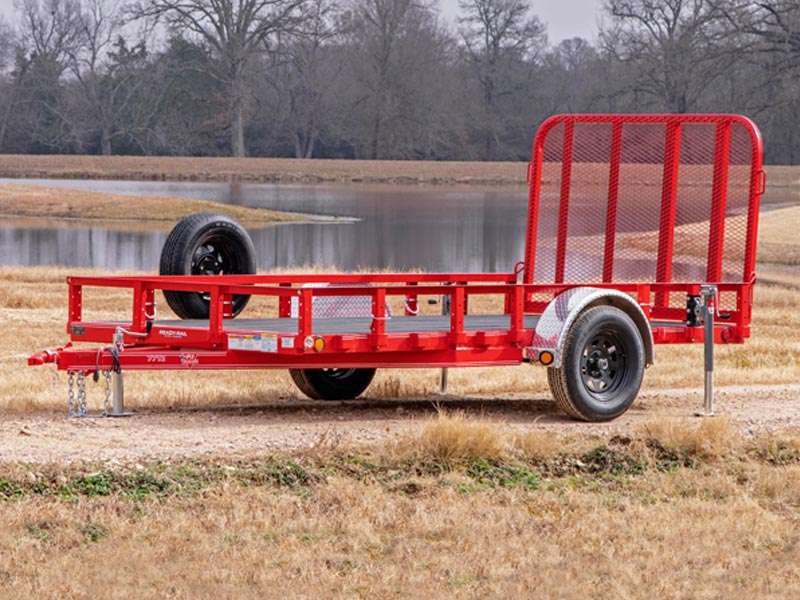 red utility trailer with sides