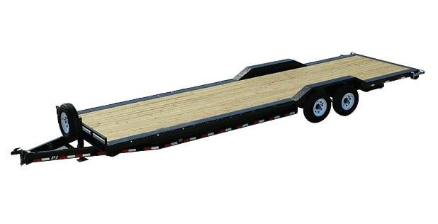 Extra long PJ flat trailer