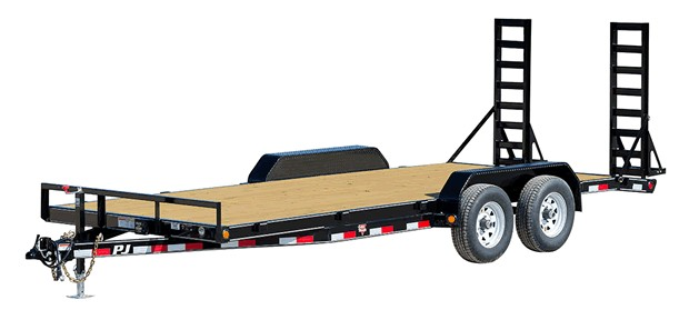 Flat PJ four wheeled trailer from Nationwide Trailers