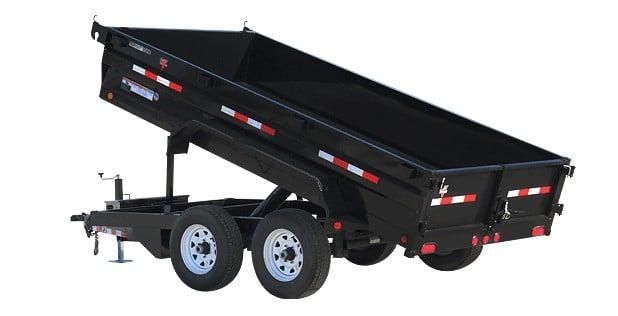 PJ dump trailer with 4 wheels