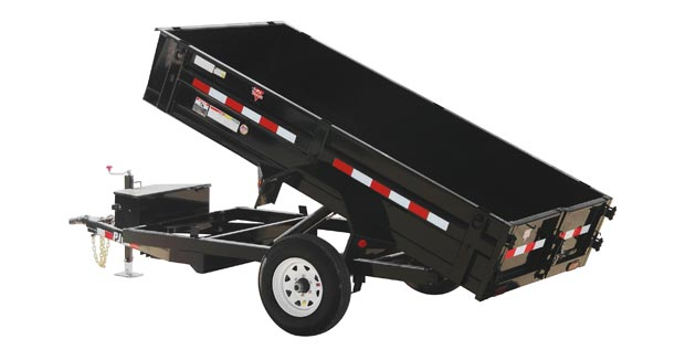 PJ dump trailer with 2 wheels