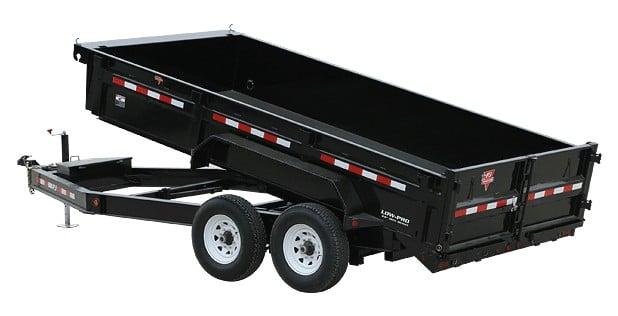 PJ shallow deck over dump trailer