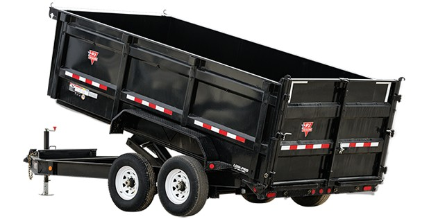 PJ deck over dump trailer with deep bed