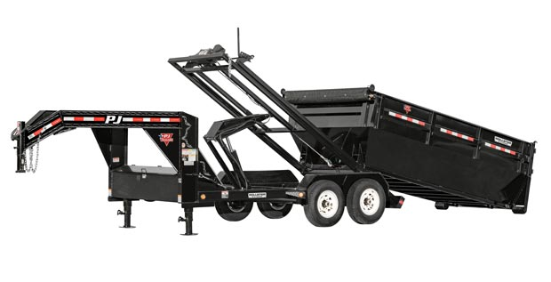 PJ large deck over dump trailer from Nationwide Trailers