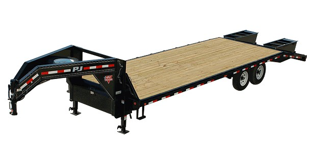 PJ flat trailer with gooseneck