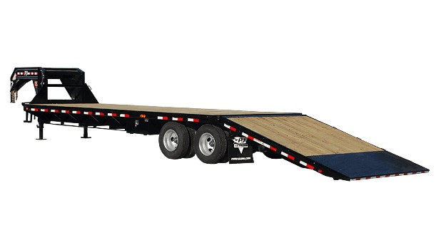 PJ gooseneck trailer with tilt