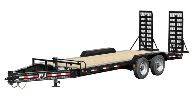 four wheeled bumper pull trailer from PJ