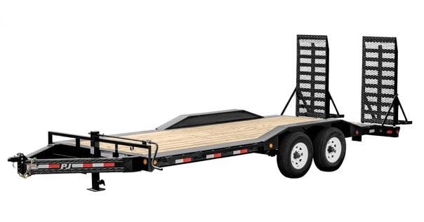 PJ four wheeled bumper pull trailer