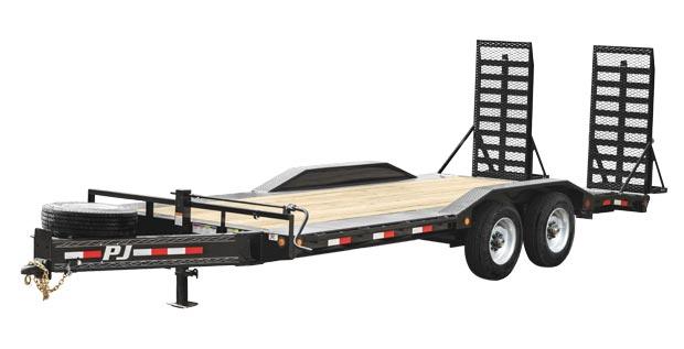 Four wheeled bumper pull trailer