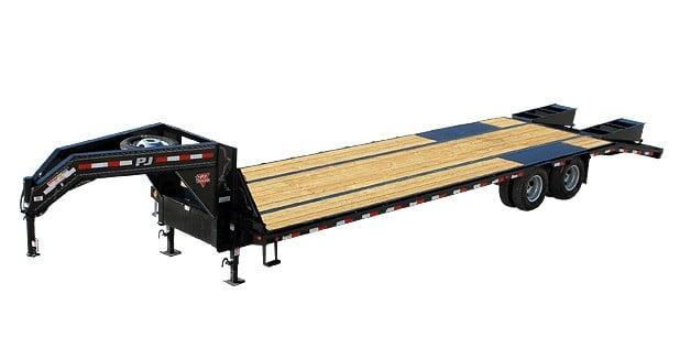 Flat gooseneck PJ trailer