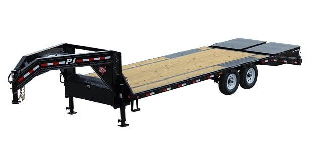 PJ flatbed gooseneck trailer