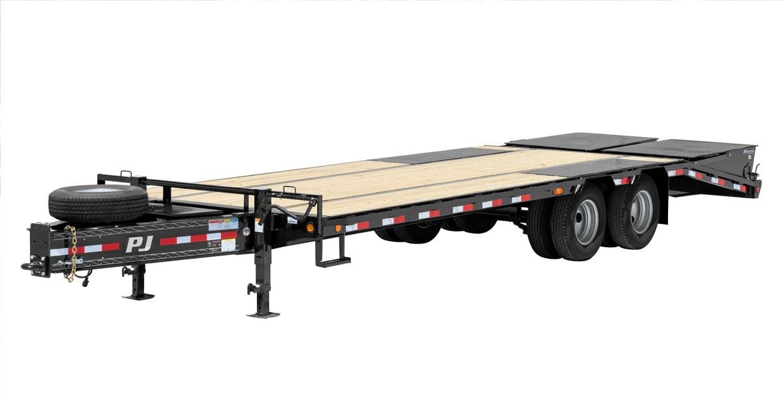 Wide PJ tilt trailer