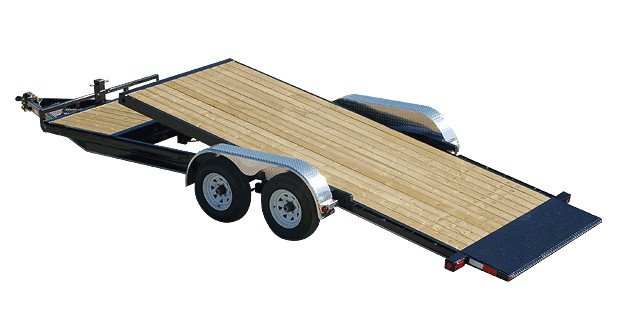 Tilt trailer for cars