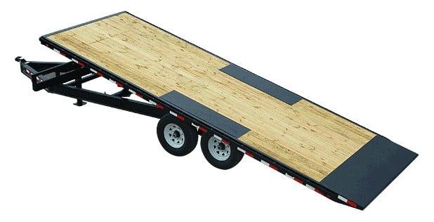 Pjs flat tilt trailer with no sides