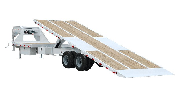 White tilt trailer