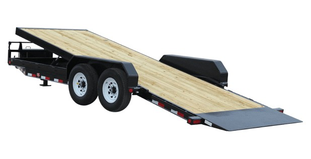 PJ tilt trailer with four wheels