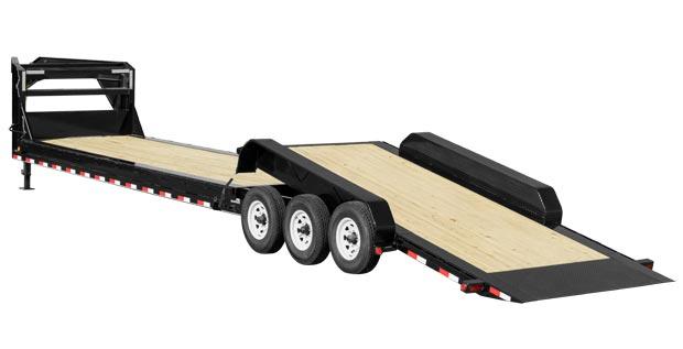 Tilt trailer with 6 wheels
