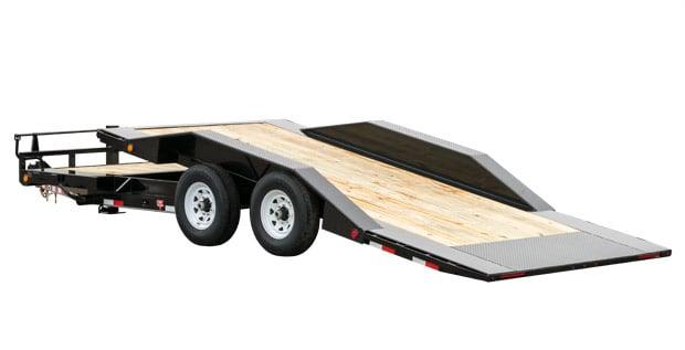 PJ four-wheeled tilt trailer