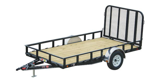 PJ trailer with sides and a back gate