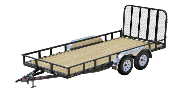 Gated axel trailer with 4 wheels