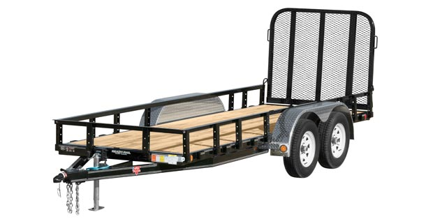 Gated PJ axel trailer with wood