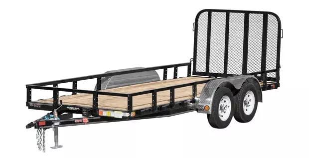 Gated PJ axel trailer
